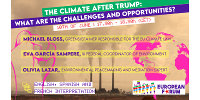 Climate After Trump- challenges and opportunities- a Webinar