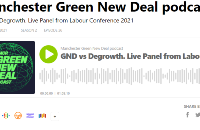 The Green New Deal podcast- GND vs Degrowth